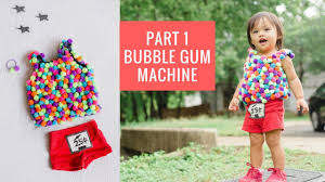 diy halloween costume for toddlers part 1 bubble gum machine