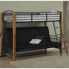 Black Metal Futon Bunk Bed Powell Matte Black And Country Pine Futon Metal Bunk Bed