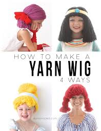 How To M by How To Make A Yarn Wig A Super Easy Diy Pinterest