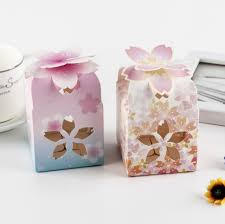 floral gift box 50pcs creative petal floral gift box hollowed out wedding favors