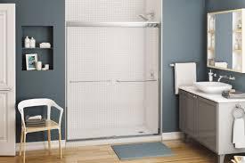 Sliding Bath Shower Screens Sliding Shower Screen For Alcoves Kameleon Maax Bathroom
