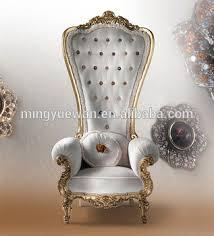 Rococo Interiors Dubai Antique Appearance Queen Throne Chair Rococo Style Ornamentation