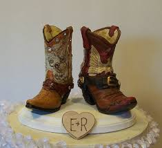 cowboy wedding cake toppers wedding cake topper his and western cowboy boots