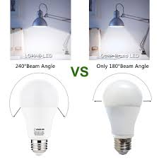 Led Versus Fluorescent Light Bulbs by Lohas 100 Watt Led Light Bulbs Equivalent A19 Led Lamp 13 5w