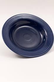 fiestaware egg plate original cobalt blue vintage dinnerware pottery for