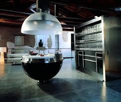 cuisine high tech îlot de cuisine au design revisité selon les tendances actuelles