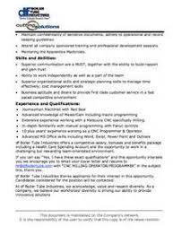 Machinist Resume Examples by Machinist Job Description Template Cnc Operator Job Description