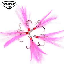 pink colors 20pc new fishing equipment 4 8 black fishing hook with pink