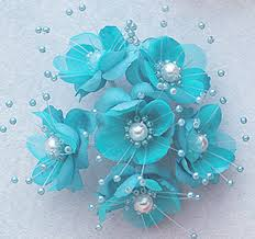 teal flowers flowers artificial silk flowers 1 5 silk flower with pearl