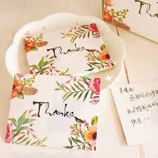gracias tarjeta de estilo de la flor deja mensaje tarjetas suerte