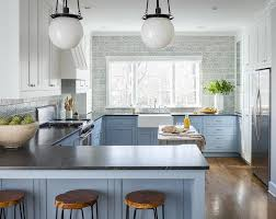 rustic blue gray kitchen cabinets blue cabinet paint colors our kitchen makeover