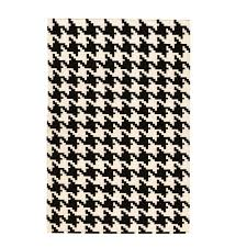 area rugs home decorators home decorators collection houndstooth black 8 ft x 11 ft area