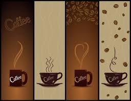coffee banners design cups beans decoration dark style free vector