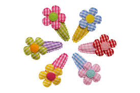 baby hair clip hair fairy gingham rainbow flower baby hair clip set