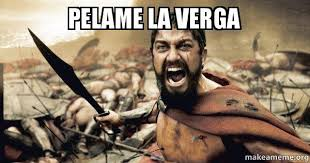 A La Verga Meme - pelame la verga the 300 make a meme