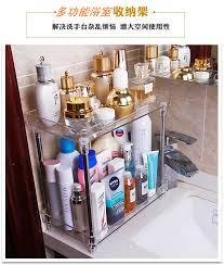 Acrylic Bathroom Storage Cosmetic Storage Box Transparent Acrylic Bathroom Storage Rack