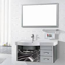 Stainless Steel Bathroom Vanity Cabinet Modern Stainless Steel Bathroom Vanity With Ceramic Basin