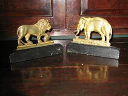 a pair of 19th century gilt brass mantelpiece ornaments or