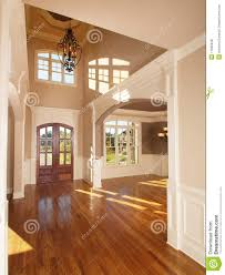 model luxury home interior front entrance archway royalty free