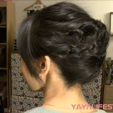 hot to do an upsweep on shoulder length hair 3 minute braided updo for short medium length hair youtube