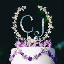 rhinestone cake toppers rhinestone bow floral garland wedding cake topper