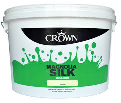 crown magnolia silk emulsion paint 10l departments diy at b u0026q