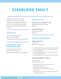 Best Resume Format With Example by The Greatest Student Resume Format 2017 Resume Format 2017