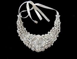 pearl crystal statement necklace images Statement bib crystal statement rhinestone and pearls necklace jpg