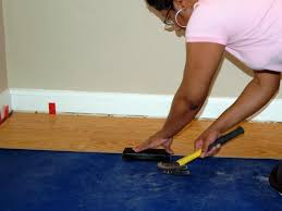 Laminate Flooring Over Concrete Basement How To Install A Laminate Floating Floor How Tos Diy