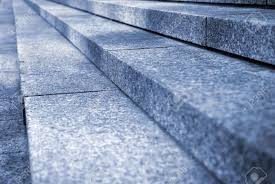 up on granite stairs in perspective stock photo picture and