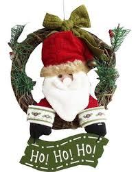get the deal santa claus winter door wall hanging ornament wreath