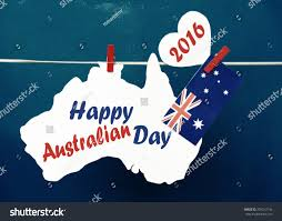 Red And White Flag With A Cross Celebrate Australia Day Holiday On January Stock Photo 359212136