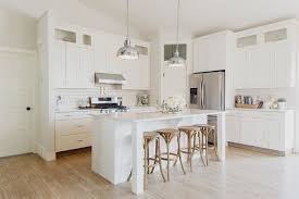 kitchen cabinet white cabinets cherry floors small modern