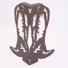 metal art coffee table or bench legs western cowboy boot style set