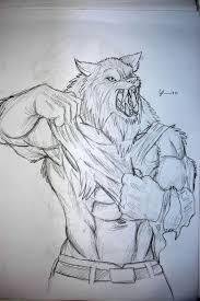 easy werewolf sketches