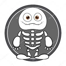 halloween skeleton images funny skeleton ghost halloween vector illustration u2014 stock
