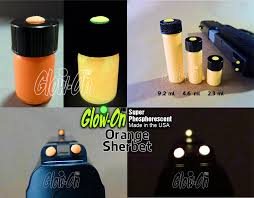 glow on gun sight paint different colors and glow intensity