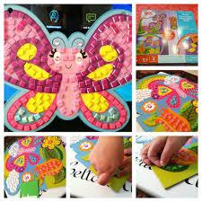 a craft a day sticker mosaics