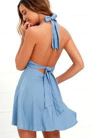 halter dress lovely blue dress chambray dress halter dress 54 00