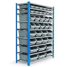 Storage Bin Shelves by Baumrag 36 Multi Size Garage Storage Bin Shelf Rack Buy Bin Racks