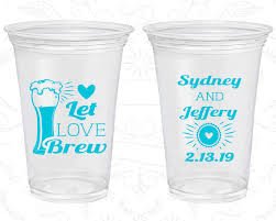 clear plastic cups for wedding let brew wedding favor clear cups bar wedding clear
