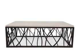 Iron Sofa Table by Hooker Stone Iron Rectangle Cocktail Table Mathis Brothers Furniture