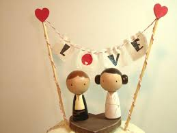 wars wedding cake topper personalized wars kokeshi wedding cake topper with base