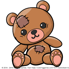 hand drawn teddy bear coloring games coloring pages