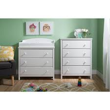 South Shore Changing Table South Shore Cotton 3 Drawer White Changing Table