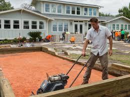 download build bocce ball court solidaria garden