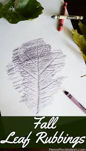 fall leaf rubbings easy fall crafts fall leaves and kid activities