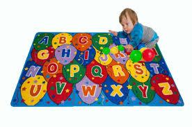 Kids Playroom Rug Amazon Com Kids Rug Abc Balloons Area Rug 5 U0027 X 7 U0027 Children Area