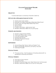 Sample Resume For College Application Template by Scholarship Resume Template 22 Sample Resume For College