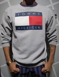 hilfiger sweater mens vintage 90s hilfiger crewneck sweatshirt size by kokorokoko